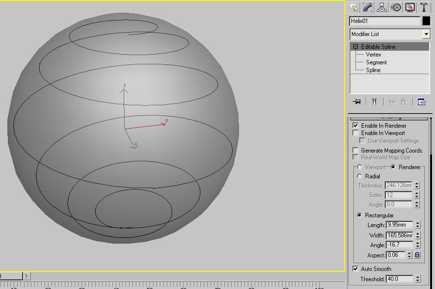 how to make helix sphere in 3ds max ?