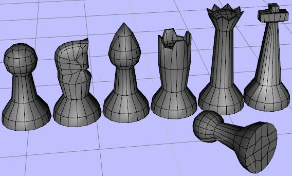 Wip simple morphing chess piece advice on the knight - Simple chess set ...