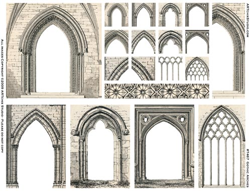 Subject Gothic Arches How Do I Create Them Please