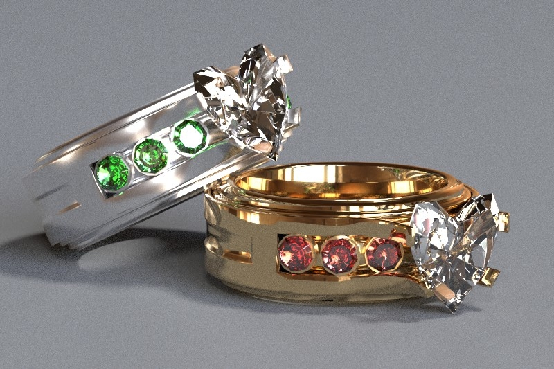 Toshe wedding bands