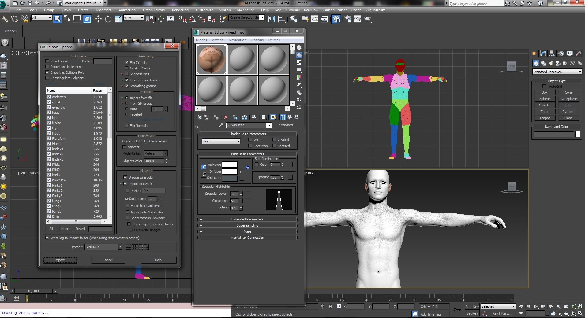 Poser Texture Maps in 3DS Max 2016