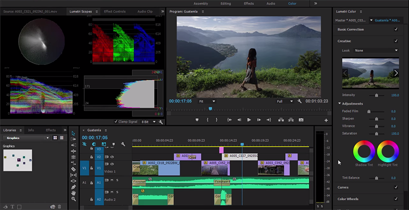 Adobe Premiere CC new Lumetri Color Panels