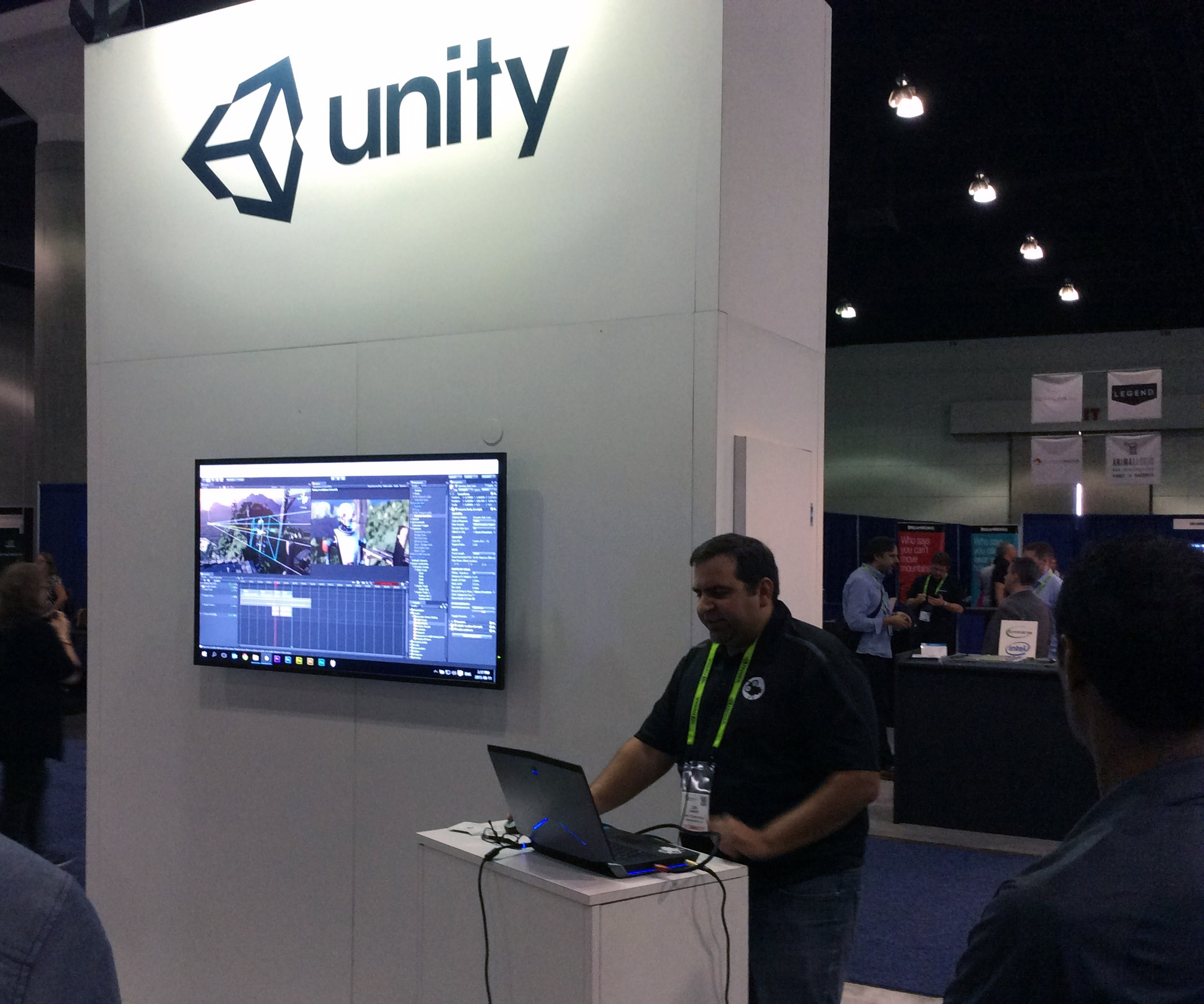 Unity booth