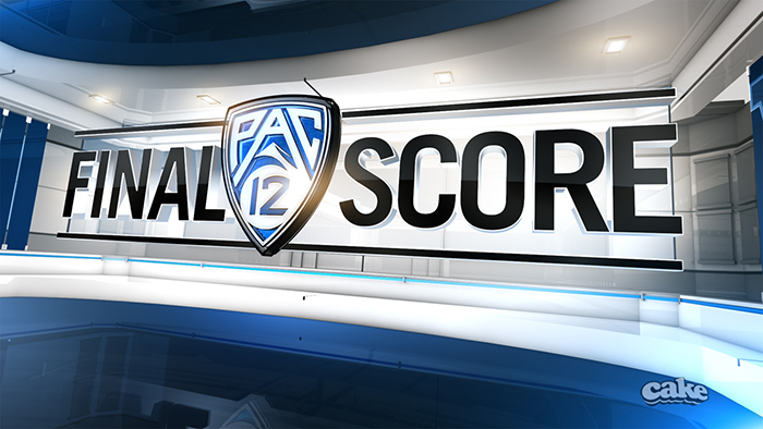 "The 25-second opening segment of ""Pac-12 Final Score"" introduces the Pac-12's shield-like logo, then guides the viewer through a ""mainframe,"" accompanied by key highlights of the day's football action."