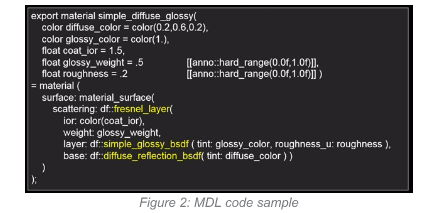 Figure 2: MDL code sample
