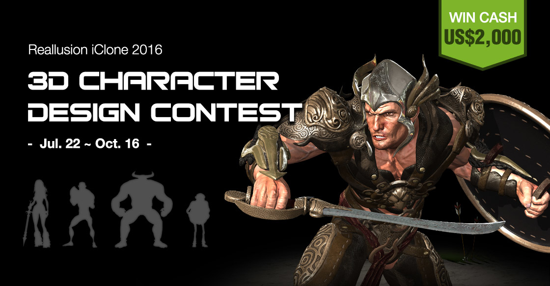 Character Design Contest 2016 : Reallusion iclone d character design contest