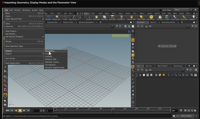 Houdini 15 Importing geometry